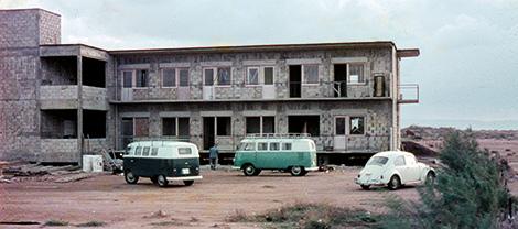 Das Gebäude in Shavei Zion im Rohbau.