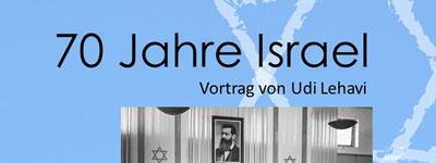 Vortrag in Bad Liebenzell – 70 Jahre Israel